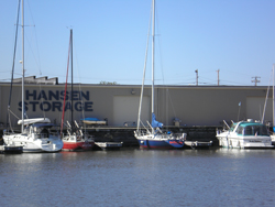Hansen Marina - offering 34 slips for up to 45 ft boats.
